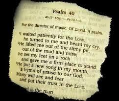 wonders of psalm 40