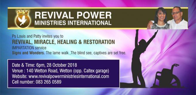 Revival, Miracle, Healing and Restoration